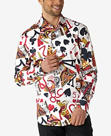 Men's King of Clubs Poker Casino Dress Shirt