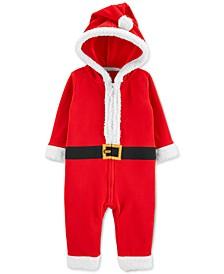 Baby Boys or Girls Hooded Fleece Santa Suit