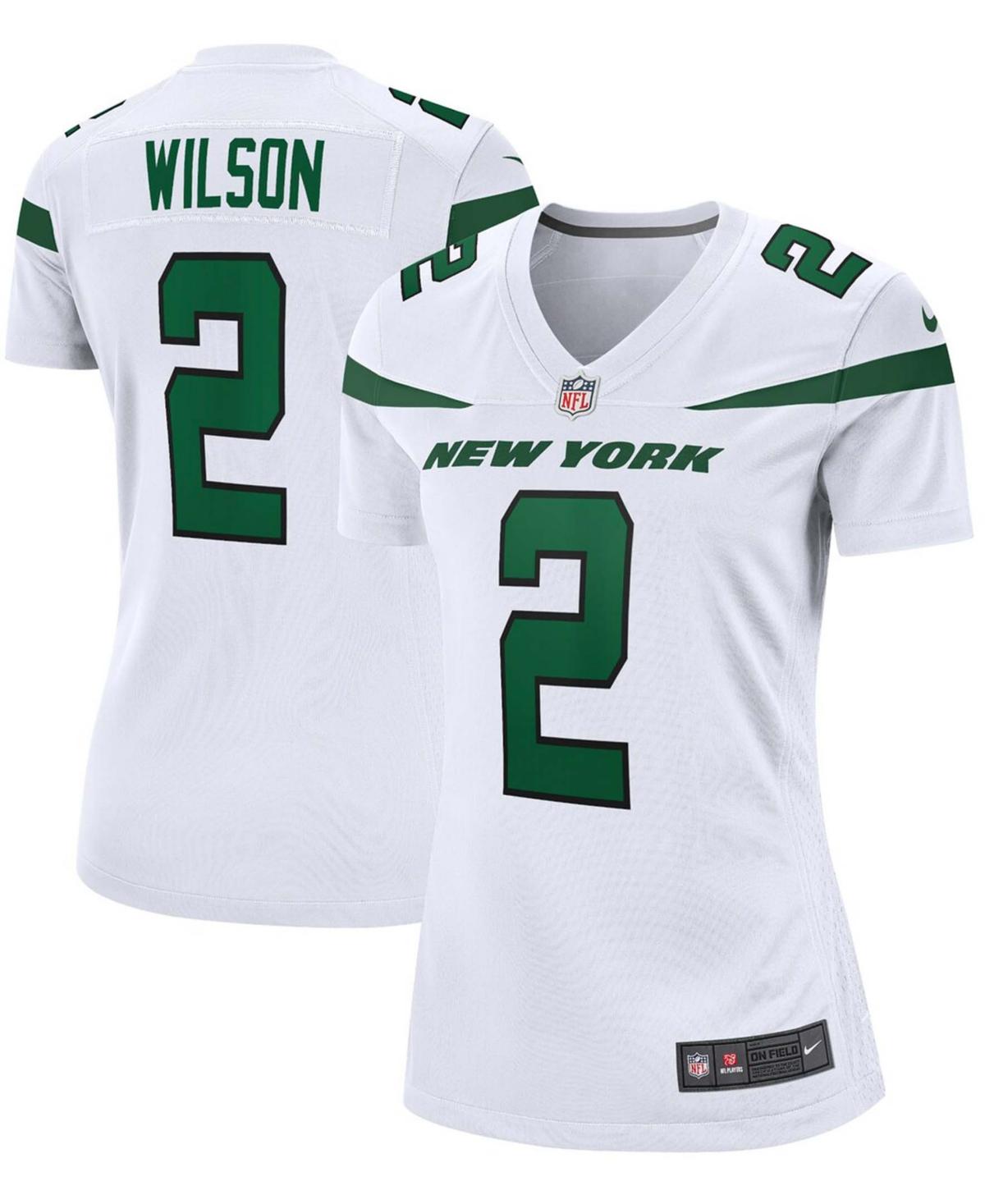Women's Zach Wilson White New York Jets 2021 Nfl Draft First Round Pick Game Jersey