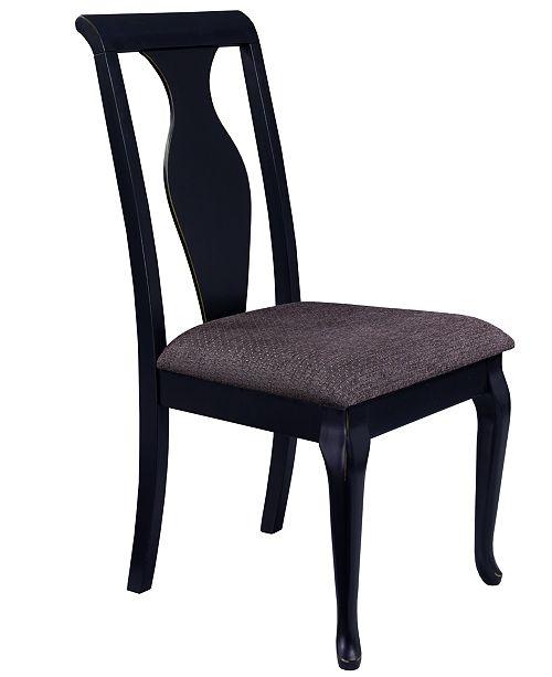 Branchville Black Urn Back Side Chair