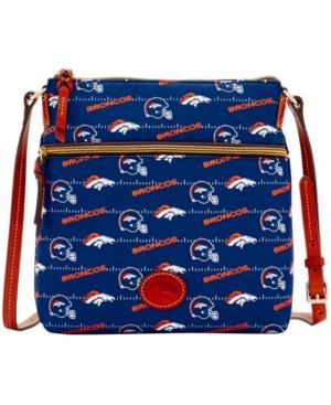Women's Navy Denver Broncos Team Color Nylon Crossbody Purse