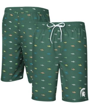 Green Michigan State Spartans Anchor Swim Trunks