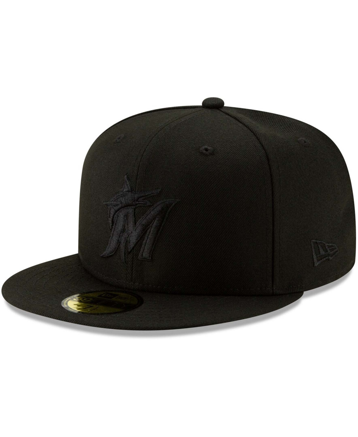 Men's Black Miami Marlins 2019 Black-on-Black 59FIFTY Fitted Hat