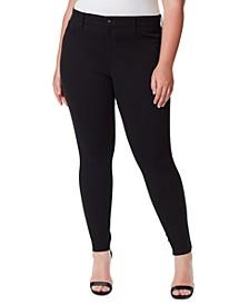 Trendy Plus Size Kiss Me Ponté-Knit Skinny Jeans