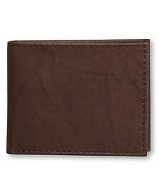 Tasso Elba Slim Cow Antique Bifold Wallet