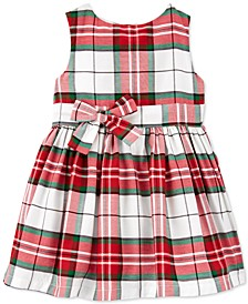 Baby Girls Plaid Sateen Holiday Dress