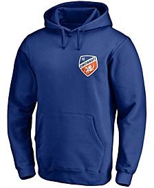 Men's Royal FC Cincinnati Primary Team Logo Pullover Hoodie