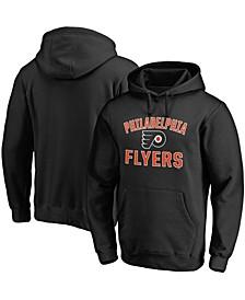 Men's Black Philadelphia Flyers Team Victory Arch Pullover Hoodie