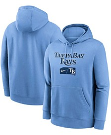 Men's Light Blue Tampa Bay Rays Team Lettering Club Pullover Hoodie