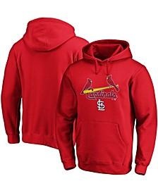Men's Red St. Louis Cardinals Team Logo Lockup Pullover Hoodie