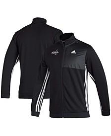 Men's Black Washington Capitals Transitional Full-Zip Track Jacket