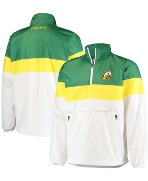 Men's White Oregon Ducks No Huddle Half-Zip Pullover Jacket