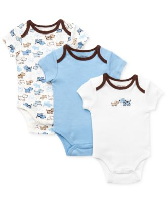 Baby Boys Cute Puppies Bodysuits 3-Pack