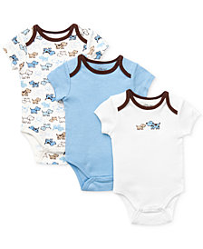 Little Me Baby Boys Cute Puppies Bodysuits 3-Pack