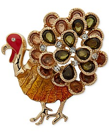 Gold-Tone Turkey Boxed Pin