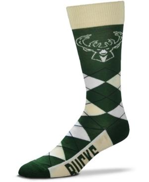 Men's and Women's Milwaukee Bucks Argyle Multi Crew Socks