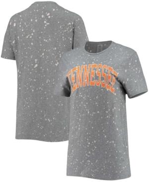 Women's Gray Tennessee Volunteers Tri-Blend Bleached Splash-Dye T-shirt