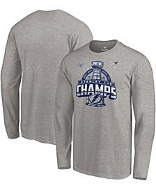Men's Heather Gray Tampa Bay Lightning 2021 Stanley Cup Champions Locker Room Long Sleeve T-shirt