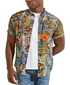 Men's Eco Nautical Collage-Print Shirt