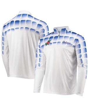 Men's White Florida Gators 25th Anniversary Gator Skin Quarter-Zip Jacket