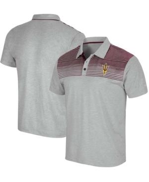 Men's Gray Arizona State Sun Devils Needles Polo Shirt