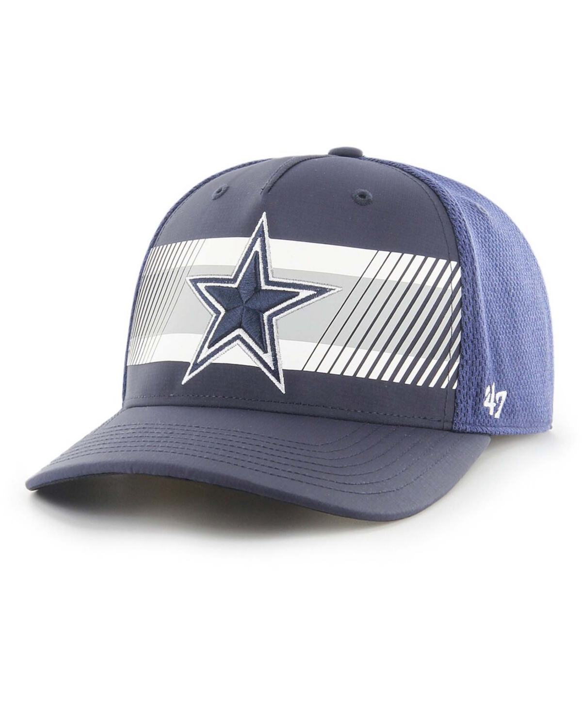 Mens Navy Dallas Cowboys Stutter Mvp Dv Adjustable Hat