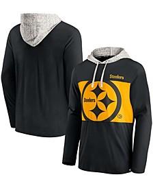 Men's Black Pittsburgh Steelers Long Sleeve Hoodie T-shirt