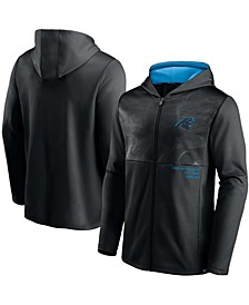 Men's Black Carolina Panthers Defender Full-Zip Hoodie Jacket