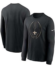 Men's Black New Orleans Saints Legend Icon Performance Long Sleeve T-shirt