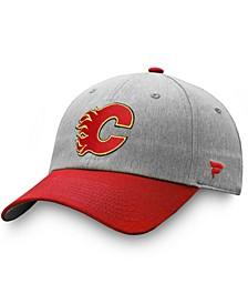 Men's Gray, Red Calgary Flames Snapback Hat