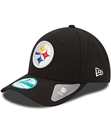 Youth Girls and Boys Black Pittsburgh Steelers League 9Forty Adjustable Hat