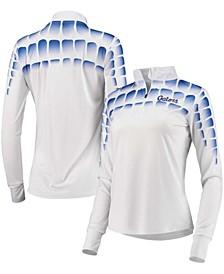 Women's White, Royal Florida Gators 25Th Anniversary Gator Skin Quarter-Zip Jacket