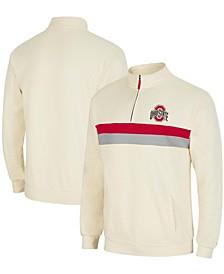 Men's Cream Ohio State Buckeyes Activities Quarter-Zip Jacket