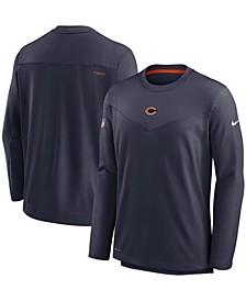 Men's Navy Chicago Bears Sideline Team Performance Pullover Sweatshirt