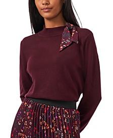 Tie-Neck Sweater Blouse