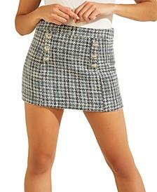 Christy A-Line Tweed Mini Skirt