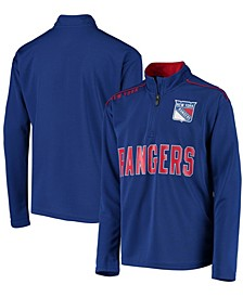 Youth Blue New York Rangers Attacking Zone Quarter-Zip Performance Jacket