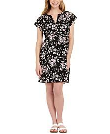 Flutter-Sleeve Maternity Dress