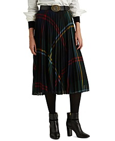 Holiday-Inspired Plaid Skirt