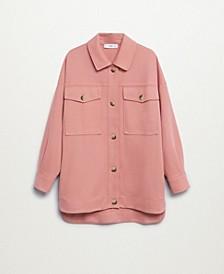 Women's Chest-Pocket Cotton Overshirt