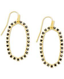 14k Gold-Plated Cubic Zirconia Open Frame Drop Earrings