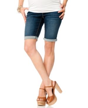 Motherhood Maternity Cuffed Bermuda Maternity Denim Shorts plus size,  plus size fashion plus size appare