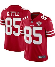 Men's George Kittle Scarlet San Francisco 49ers 75th Anniversary Vapor Limited Jersey
