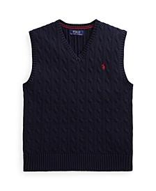 Big Boys Cable-Knit Cotton Sweater Vest