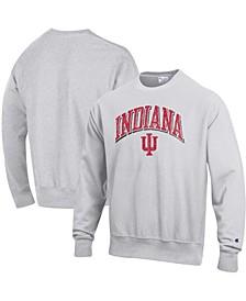 Men's Gray Indiana Hoosiers Arch Over Logo Reverse Weave Pullover Sweatshirt