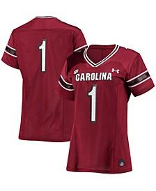 Women's #1 Garnet South Carolina Gamecocks Replica Jersey