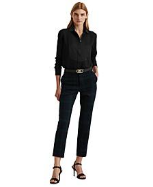 Bib-Front Georgette Shirt