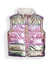 Little Girls Faux Fur Reversible Vest
