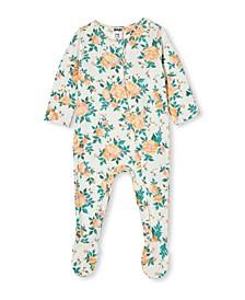 Baby Girls Long Sleeve Zip Romper
