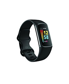 Charge 5 Black Silicone Band Fitness and Health Tracker